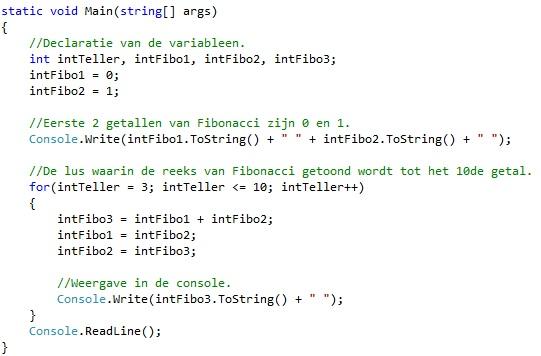 Oplossing oefeningen iteratie C# 5-3