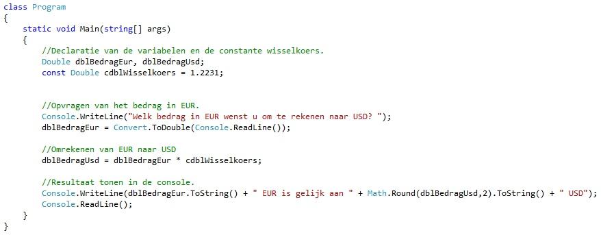 Oplossing oefening 2-3: bouwstenen C#