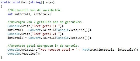 Oplossing oefeningen functies C# 3-6