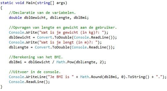 Oplossing oefeningen functies C# 3-8