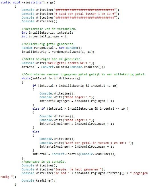 Oplossing oefeningen iteratie C# 5-12