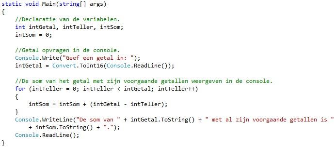 Oplossing oefeningen iteratie C# 5-4