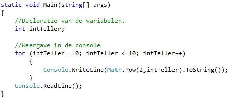Oplossing oefeningen iteratie C# 5-6