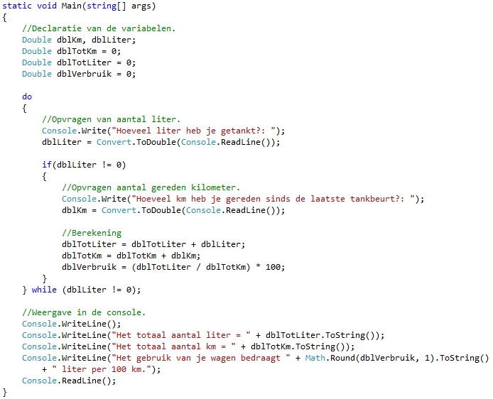Oplossing oefeningen iteratie C# 5-7