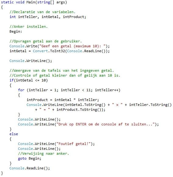 Oplossing oefeningen iteratie C# 5-10