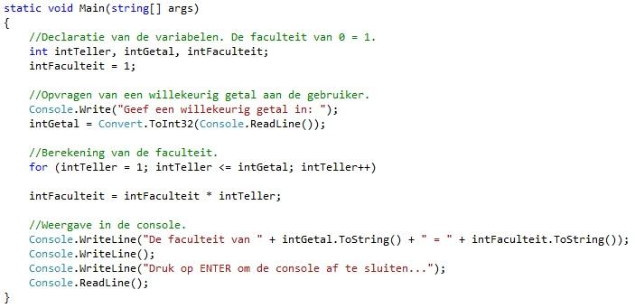 Oplossing oefeningen iteratie C# 5-8