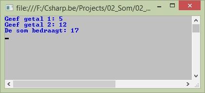 Figuur 2.2 c sharp bouwstenen