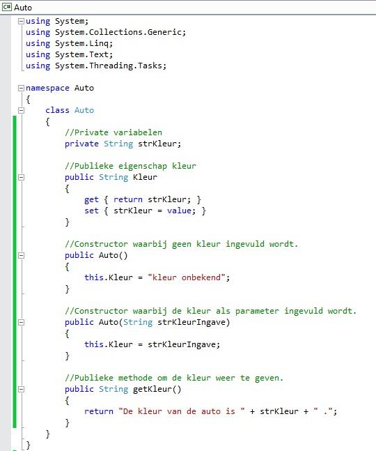 Figuur 13.8 object georiënteerd programmeren