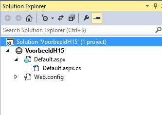 Figuur 15.4 Visual Studio: Solution Explorer