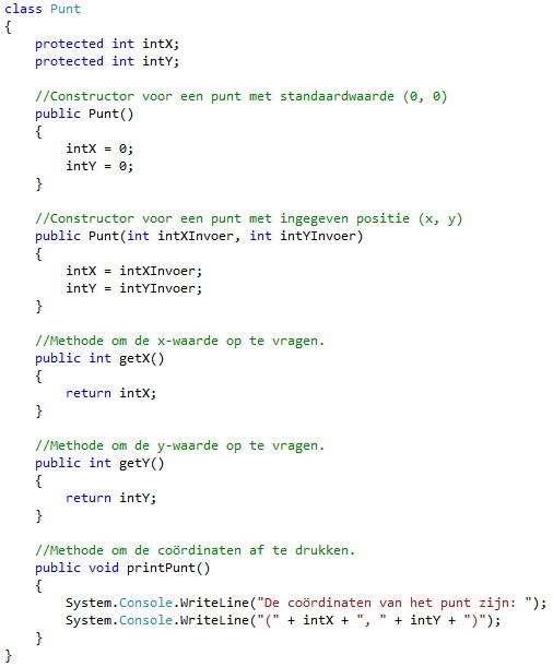 Oplossing oefeningen OOP 13-4