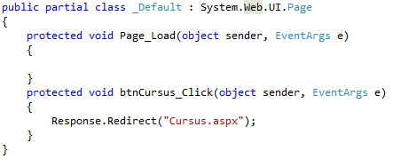 Figuur 17.7 Navigatie: Code Respones.Redirect