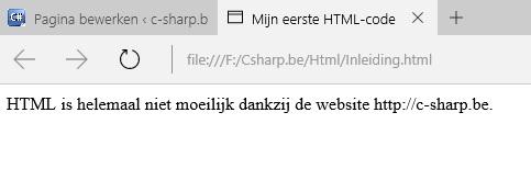 Figuur 1: HTML opbouw van een HTML-document