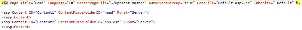 Figuur 19.10 masterpage: HTML-code webpagina