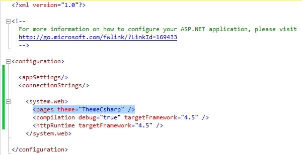 Figuur 19.20 masterpage: Code bestand web.config