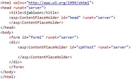 Figuur 19.4 masterpage: Code na aanpassingen