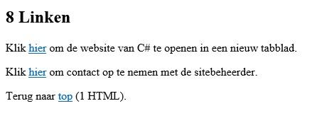 Figuur 7: HTML linken