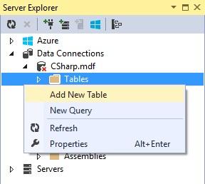 Figuur 20.6 database: Nieuwe tabel toevoegen