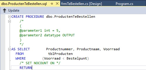 Figuur 22.17: Stored Procedure