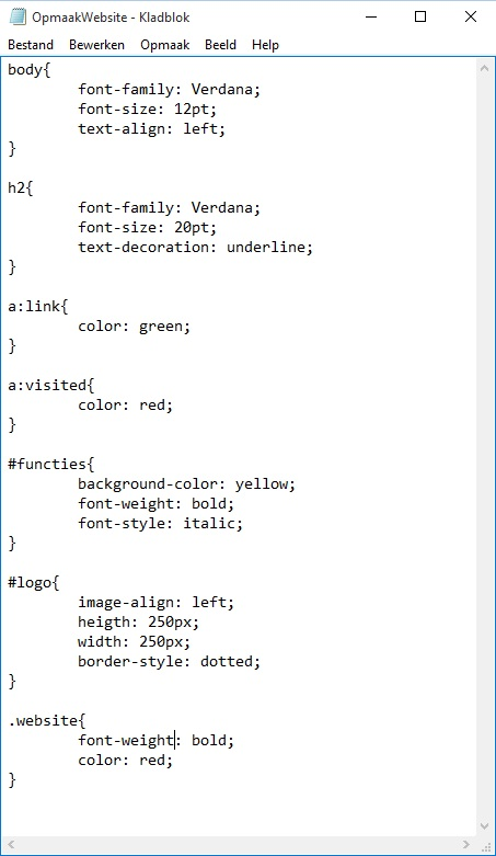 Oplossing oefeningen CSS