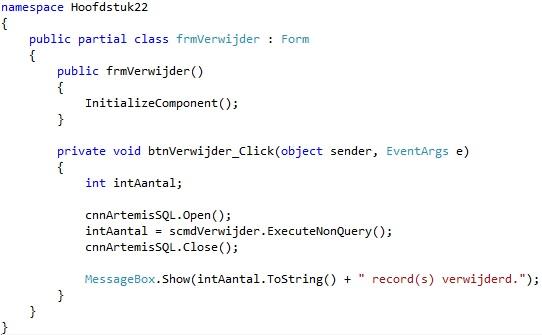 Oplossing oefening 22.3: Code