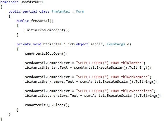Oplossing oefening 22.4: Code