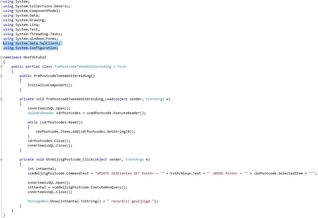 Oplossing oef 22.8: Code