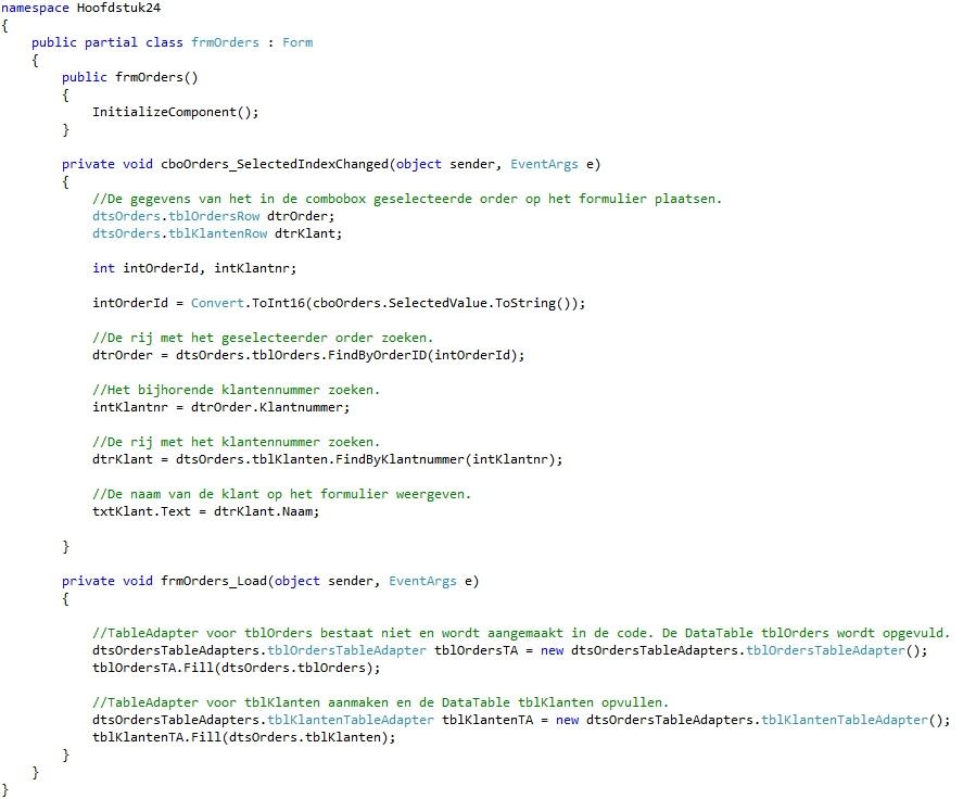 Oplossing oefening 24-6: Code