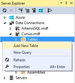 Figuur 26.4: Nieuwe tabel toevoegen aan database